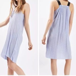 Topshop Lilac Pleated Dress